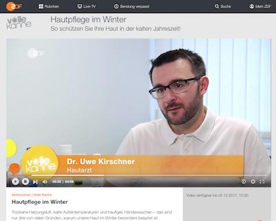 Dr. Kirschner (Mainz) im ZDF-Interview zu Hautpflege im Winter