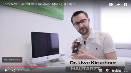 Dr. Kirschner bei Likestyle zu Aktivkohlemasken