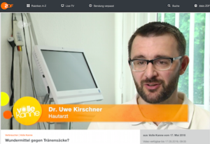 Dr. Uwe Kirschner im ZDF zu Tränensäcken