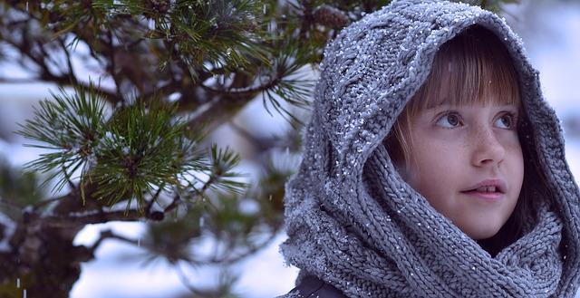 Kinderhaut im Winter