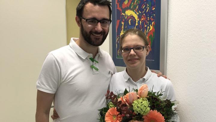 Hautärztin Pia Schmid mit Dr. Kirschner