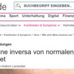 Aufklärung über Akne inversa/ Hidradenitis suppurativa mit Dr. Kirschner (Mainz)