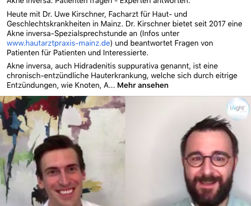 Video-Interview mit Dr. Kirschner zu Akne inversa/ Hidradenitis suppurativa